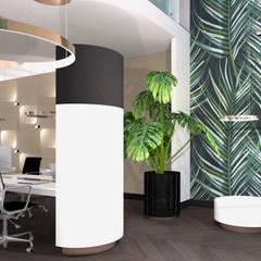 Seperate zitruimte:  Kantoor- & winkelruimten door VAN VEEN Interior Design