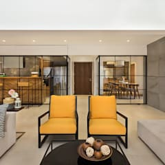 Open House: industrial Living room by Studio Nishita Kamdar