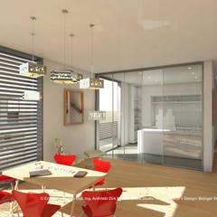 Wohnhaus - Mehrgenerationenwohnen - Ansicht Innen Essbereich : minimalistische Esszimmer von iDlabs Studio für Architektur + Design
