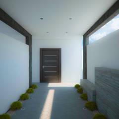 Proyecto JM: Pasillos y recibidores de estilo  por Arq. Alejandro Garza
