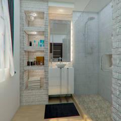 Remodelacion Baño: Baños de estilo  por Arq. Alejandro Garza