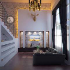 Casa Barajas: Salas de estilo rústico por Arq. Alejandro Garza