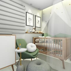 quarto do bebê: Quartos de bebê  por Bonomiveras Arquitetura Urbanismo e Interiores
