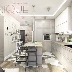 Дизайн квартиры в стиле современный лофт Кухня в стиле лофт от ELENA_KULIK_DESIGN Лофт