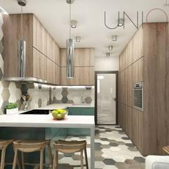 Квартира для молодой семьи: Кухни в . Автор – ELENA_KULIK_DESIGN