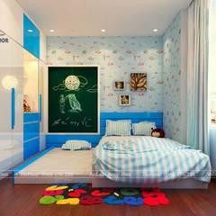 THIẾT KẾ CĂN HỘ 76M2 TẠI CHUNG CƯ VINHOMES SKY LAKE PHẠM HÙNG:  Phòng ngủ bé trai by Nội Thất An Lộc