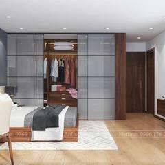 NỘI THẤT NHÀ PHỐ ĐẸP TẠI HẢI PHÒNG NHÀ ANH NGUYÊN:  Phòng ngủ by Nội Thất An Lộc,