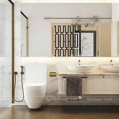THIẾT KẾ NỘI THẤT BIỆT THỰ TÂN CỔ ĐIỂN TẠI AN KHANG VILLA:  Phòng tắm by Nội Thất An Lộc