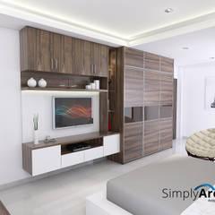 Wardrobe and TV Credenza Oleh Simply Arch.