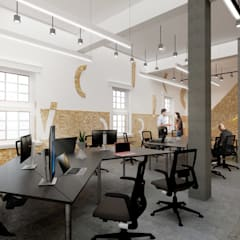 Oficinas y Tiendas de estilo  por Much Creative Communication Limited