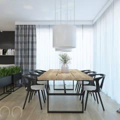 PODMIEJSKI LUZ: styl , w kategorii Jadalnia zaprojektowany przez UTOO-Pracownia Architektury Wnętrz i Krajobrazu