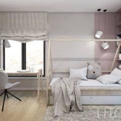 DZIEWCZĘCA SKANDYNAWIA: styl , w kategorii Pokój dziecięcy zaprojektowany przez UTOO-Pracownia Architektury Wnętrz i Krajobrazu