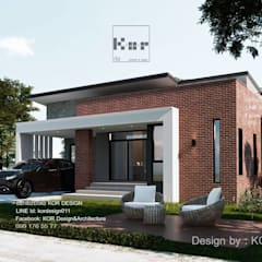 งานออกแบบบ้านชั้นเดียวรหัส MD1-002:  บ้านเดี่ยว โดย Kor Design&Architecture,