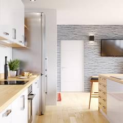 Minimalizm i styl skandynawski - udany duet: styl , w kategorii Kuchnia zaprojektowany przez GLOBALO MAX
