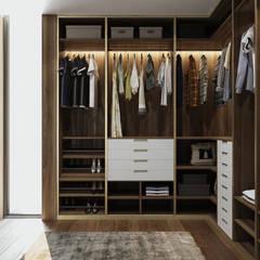 Closets de estilo  por EsboçoSigma, Lda
