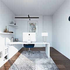 Ruang Kerja oleh EsboçoSigma, Lda, Modern