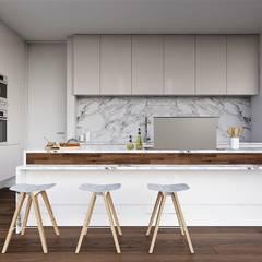 Moradia Unifamiliar  - Gondomar - Tipologia T3: Cozinhas  por EsboçoSigma, Lda