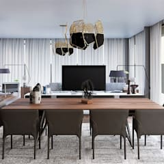 Moradia Unifamiliar  - Gondomar - Tipologia T3: Salas de jantar  por EsboçoSigma, Lda,Moderno
