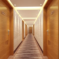 Corridor & hallway by Space Design Group Architects