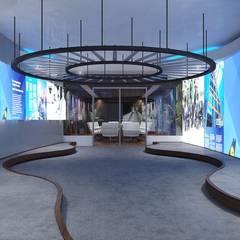 Pasillo principal: Pasillos y recibidores de estilo  por TAR ARQUITECTOS