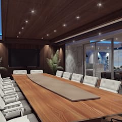 Sala de juntas: Estudios y oficinas de estilo industrial por TAR ARQUITECTOS