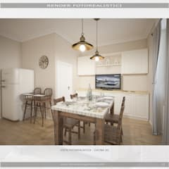 """""""Gli spazi si rinnovano...la tradizione resta!"""": Cucina attrezzata in stile  di MC Rendering Solution"""