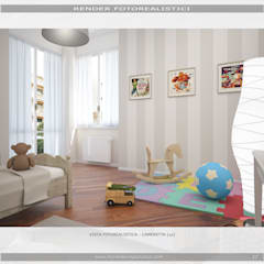 Cuarto para niños de estilo  por MC Rendering Solution