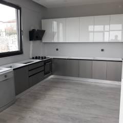 Beşiktaş Mutfak – High Gloss Kapak, Granit Tezgah - Rezidans Mutfağı:  tarz Ankastre mutfaklar