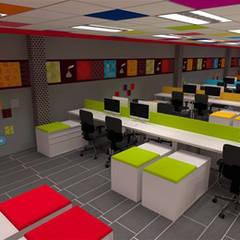 Oficinas Administrativas: Estudios y oficinas de estilo industrial por TAR ARQUITECTOS