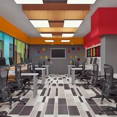 Oficinas de ingeniería: Estudios y oficinas de estilo industrial por TAR ARQUITECTOS