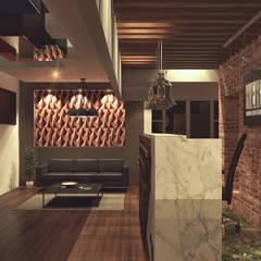 Lobby 1: Pasillos y recibidores de estilo  por TAR ARQUITECTOS