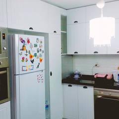 Beşiktaş Mutfak – Beşiktaş'ta Membran Kapak Granit Tezgah Mutfak Dolabı Montajımız:  tarz Mutfak üniteleri