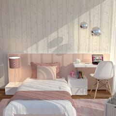 Girls Bedroom by Casactiva Interiores, Modern لکڑی Wood effect