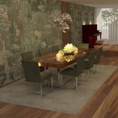 Sala de jantar em pormenor...: Salas de jantar  por Casactiva Interiores