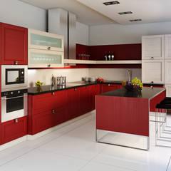 Kitchenet Departamento: Cocinas equipadas de estilo  por Diseño & Estilo