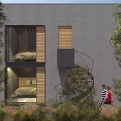 GM-02 DORMITORIOS: Hoteles de estilo  por C_arquitectos