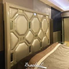 Dormitorio secundario, técnica Viena y Composición de cuadros ©: Paredes de estilo  por Brochart pintura decorativa