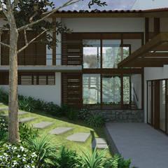 Pátio da casa: Jardins  por Otoni Arquitetura