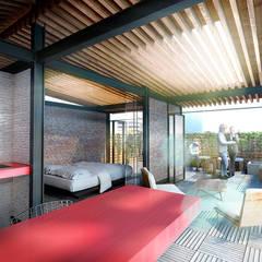 Texas 77: Salas de estilo  por All Arquitectura