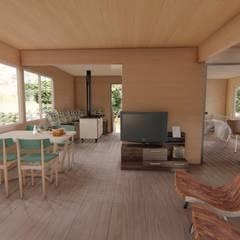 Imagen 3d interior : Livings de estilo moderno por Ekeko arquitectura
