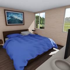 imagen 3d interior : Dormitorios de estilo  por Ekeko arquitectura