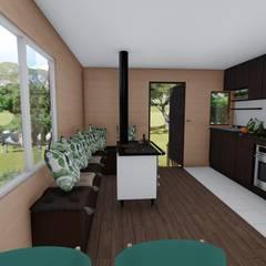 imagen3d/cocina: Cocinas equipadas de estilo  por Ekeko arquitectura  - Coquimbo