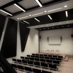 Auditorio Escenario (Propuesta): Salas multimedia de estilo minimalista por Plano 13