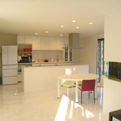 妹背牛の家: アウラ建築設計事務所が手掛けたキッチン収納です。