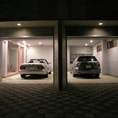Double Garage by アウラ建築設計事務所