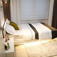 부산 모델하우스 세팅, 낭만적인 클래식스타일 – 노마드디자인 : 노마드디자인 / Nomad design의  침실