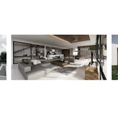 Simon Chapel Villa: Ruang Keluarga oleh Monuspace Architect,