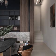 收納視覺主牆:  辦公室&店面 by 達譽設計
