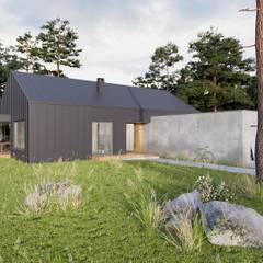 Dom jednorodzinny o pow. 160 m2 w Szczecinie: styl , w kategorii Dom jednorodzinny zaprojektowany przez 4Q DEKTON Pracownia Architektoniczna