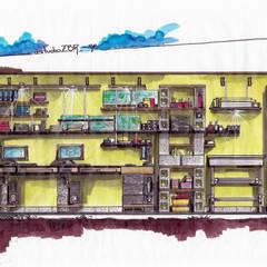 Nueva sede de estudioZBR & asociados: Estudios y oficinas de estilo  por estudio ZBR - arquitectura - diseño + construcción